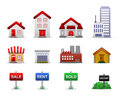Real Estates Property Icons Vector Royalty Free Stock Image