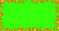 Real fire flames burn movement on chroma key, green screen background Royalty Free Stock Photo