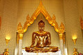 Real Golden buddha Royalty Free Stock Photos