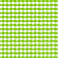 Real green checkered fabric tablecloth Royalty Free Stock Photo