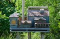 Real house for birds in toronto with roof and windows Stock Photography
