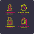 Real-life room escape. The logo for the quest room.