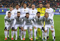 Real madrid players pose for a group photo lviv ukraine november before uefa champions league game against fc shakhtar donetsk at Stock Photography