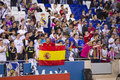 Real madrid supporters at the spanish cup match between ue cornella and final score on october in cornella barcelona Royalty Free Stock Images