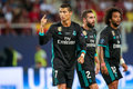 REAL MADRID V MANCHESTER UNITED: UEFA SUPER CUP Royalty Free Stock Photo