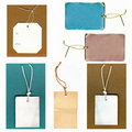 Real Paper Tags Set Royalty Free Stock Photo