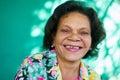 Real People Portrait Funny Senior Woman Hispanic Lady Smiling Royalty Free Stock Photo