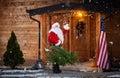 Real Santa Claus gesturing hello Royalty Free Stock Photo
