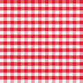 Real seamless pattern of red classic tablecloth gingham Stock Image