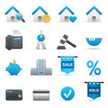 Real State Icons | Indigo Serie 01 Royalty Free Stock Photo