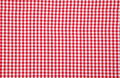 Real white and red tablecloth Stock Image