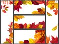Realistic autumn leaves banners. Yellow garden leafage, flying leaf and fall season banner bundle vector illustration
