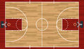 Realistic Basketball Court Illustration Royalty Free Stock Photo