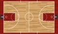 Realistic Basketball Court Illustration Royalty Free Stock Photo