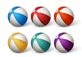 Realistic Beach Balls Set in White Background Royalty Free Stock Photo