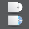 Realistic blank compact disc CD or DVD isolated on a white background Royalty Free Stock Photo
