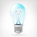 Realistic Blue Bulb Object Iso...