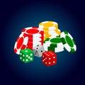 Realistic casino elements: