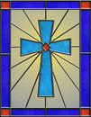 Realistic celtic cross stained glass Stock Images