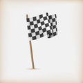 Realistic checkered racing flag vector Stock Image