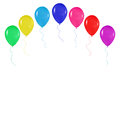 Realistic colorful balloons background, holidays, greetings, wedding, happy birthday, partying on a white background Royalty Free Stock Photo