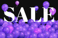 Realistic colorful balloons with text `Sale`.Background for special offer Royalty Free Stock Photo