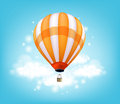 Realistic Colorful Hot Air Balloon Background Flying Royalty Free Stock Photo