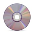 Realistic compact disc on white background. Royalty Free Stock Photo