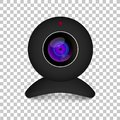 Realistic computer web cam on transparent background. Illustration on white background Royalty Free Stock Photo