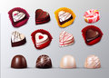 Realistic Confectionery And Pastry Elements Set