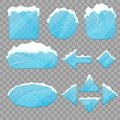 stock image of  Realistic 3d Detailed Ice Buttons Set. Vector