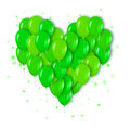 Realistic 3d Neon Green Bunch of Balloons Flying for Party Royalty Free Stock Photo