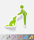 Realistic design element. training dogs Royalty Free Stock Photo