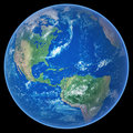Earth on black Royalty Free Stock Photo