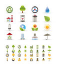 Realistic  Ecology icons Stock Image
