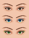 Realistic eyes vector woman s with makeup Royalty Free Stock Image