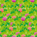 Realistic floral clover seamless pattern