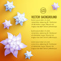 Realistic flower background vector illustration eps contains transparencies Stock Photo