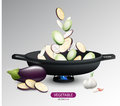 Realistic Fresh Vegetables Cooking Concept