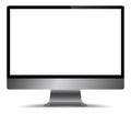 Realistic Grey Metal Computer Screen