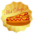 Realistic hot dog  illustration Stock Photo