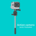 Realistic icon of action camera