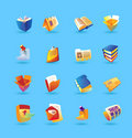 Realistic icons set for books and papers Royalty Free Stock Photo