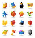 Realistic icons set for business Royalty Free Stock Photo