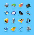 Realistic icons set for devices Stock Photos