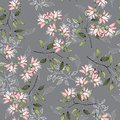 Realistic isolated seamless flowers pattern. Vintage set. Hand drawn vector illustration. Abstract floral drawing Royalty Free Stock Photo