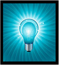 Realistic light bulb Royalty Free Stock Photos