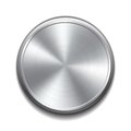 Realistic metal button circular processing vector illustration Stock Image