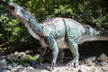 Realistic model of dinosaur Iguanodon Royalty Free Stock Photo