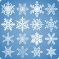 Realistic Natural Snowflake Set Royalty Free Stock Images